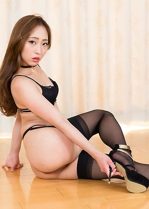 black stockings, brunette, flashing, footjobs, heels, juri kisaragi, pussy, shaved pussy, spreading,