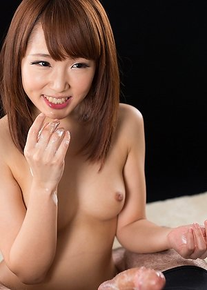 ai mizushima, blowjob, handjob, sperm licking, threesome,